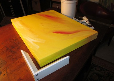 corner and canvas on stretcher